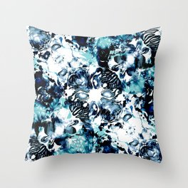 Abstract Marble Tie Dye Throw Pillow