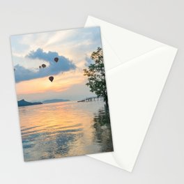 Hot air balloons over Phuket Stationery Cards