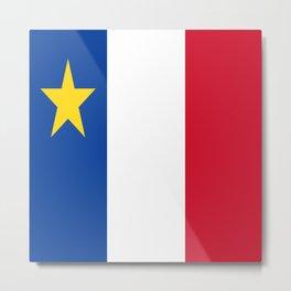 Flag of Acadia / Drapeau de l'Acadie Metal Print