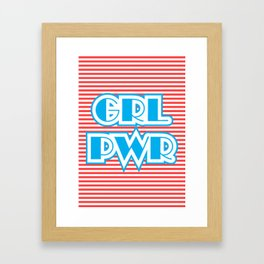 GRL PWR, Girl Power Framed Art Print