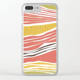 Modern irregular Stripes 03 Clear iPhone Case