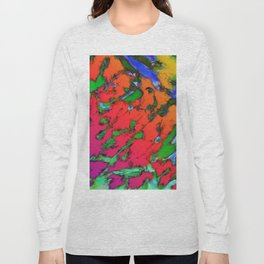 Shattering red tigers Long Sleeve T-shirt