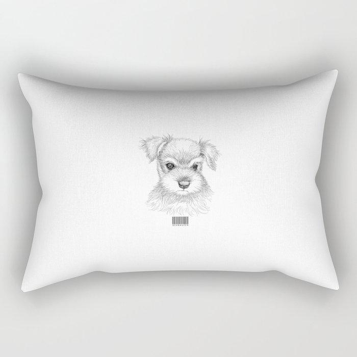 Schnauzer Rectangular Pillow