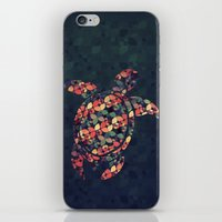 tortoise iPhone & iPod Skins featuring The Pattern Tortoise by VessDSign