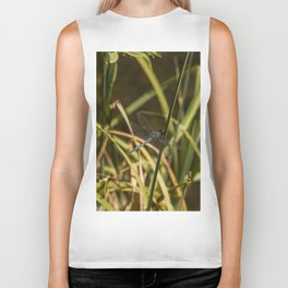 Dragonfly in the marsh Biker Tank