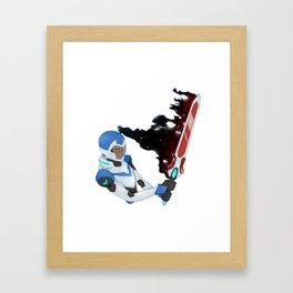 Lance altean broad sword Framed Art Print