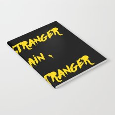 I'm a stranger Yellow on Black Writing Notebook