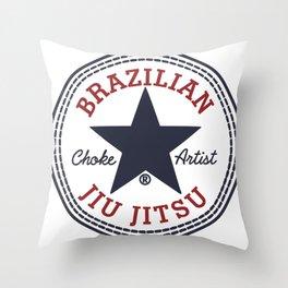 BJJ Choke Artist Throw Pillow