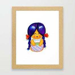 Chapina Kokeshi Framed Art Print
