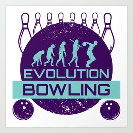 Evolution Bowling | Strike Team League Spare Art Print