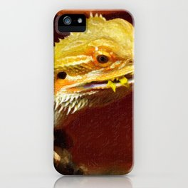 bearded dracon 2 iPhone Case