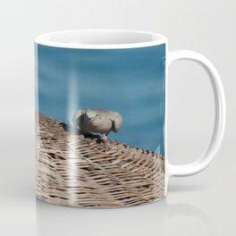 A Pair Of Doves On A Woven Sun Parasol Coffee Mug