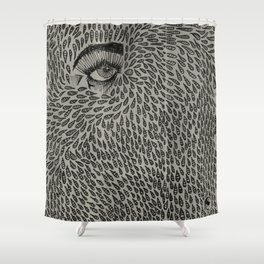 Eyedrops  Shower Curtain