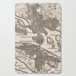 Vintage Map of Stockholm Sweden (1764) Cutting Board
