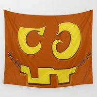 pumpkin Wall Tapestries featuring Pumpkin by ItalianRicanArt