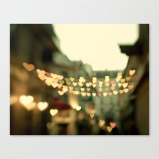 Looking for Love - Paris Hearts Canvas Print