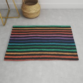 Knitted rainbow Rug