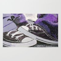 converse Area & Throw Rugs featuring Converse by Leslie Creveling