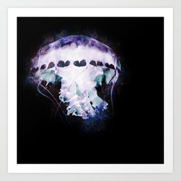 Celestial Jellyfish (Dark) Art Print