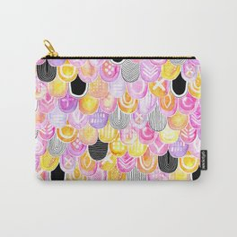 Citrus, Cotton Candy & Licorice Watercolor Scales Carry-All Pouch