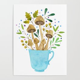 Relaxing Shrooms Poster