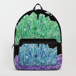 Colorful Crystal Clusters Backpack