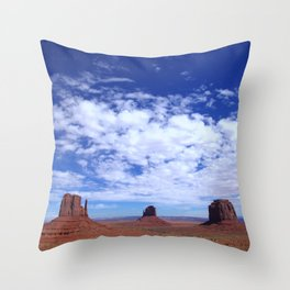 Sky above Monument Valley Throw Pillow