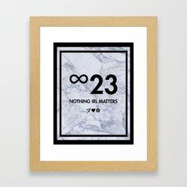Nothing IRL Matters (Sun-Dried Tomato & Feta Variant) Framed Art Print