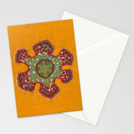 Growing - Casuarina - embroidery based on plant cell under the microscope Stationery Cards