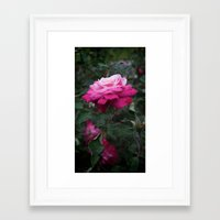 ombre Framed Art Prints featuring Ombre by T & K Arts