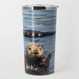 sea otter hello Travel Mug