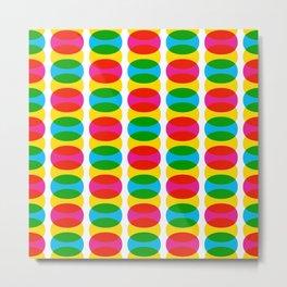 Geometric Pattern 256 (colorful ovals) Metal Print
