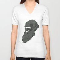 darwin V-neck T-shirts featuring Darwin by science fried art