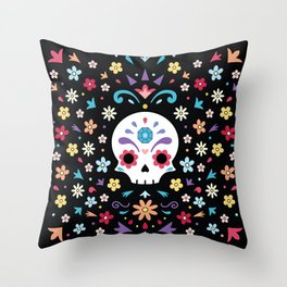 Cute day of the dead Throw Pillow