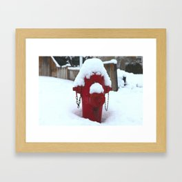 My little fire fighter Framed Art Print