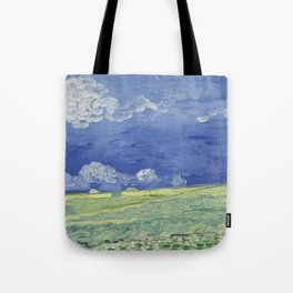 Wheatfield under Thunderclouds Tote Bag
