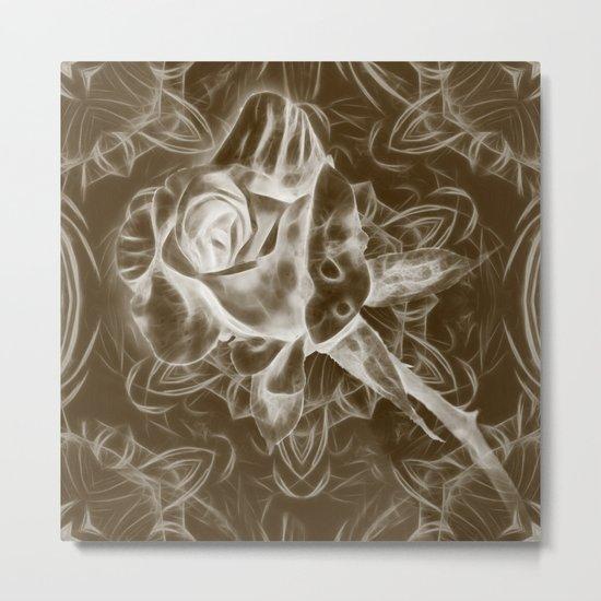 Rose infrared in brown Metal Print