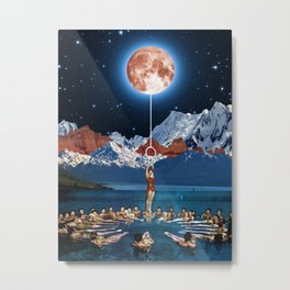 Hanging from the moon Metal Print