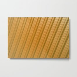 Stripes II - Golden Metal Print