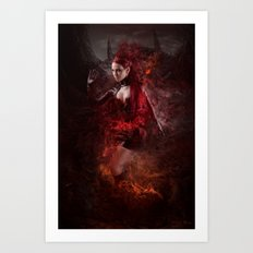 BORN OF FIRE Art Print