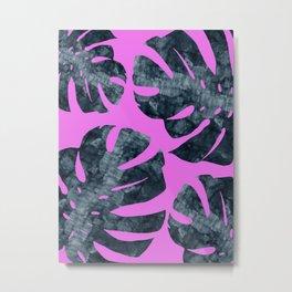 Watercolor palm leaves III Metal Print