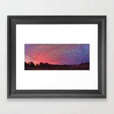 prairie sunrise Framed Art Print