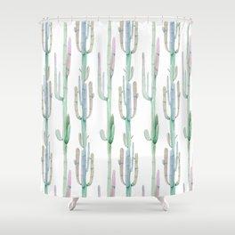 Arizona Wilderness Cactus Pattern Shower Curtain