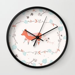 fox & grapes Wall Clock