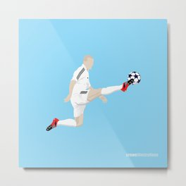 Flying Zidane Metal Print