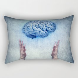 holding brain Rectangular Pillow