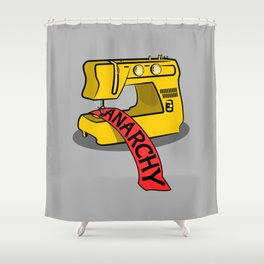 Anarchy Sewing Machine Shower Curtain