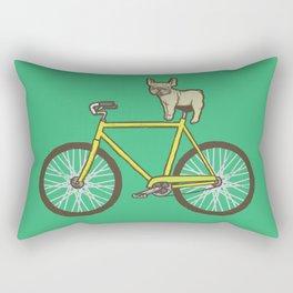 Frenchie on a Fixie Rectangular Pillow