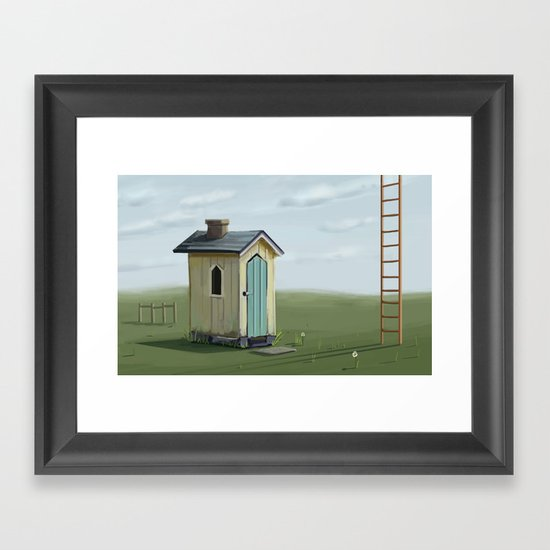 sky ladder Framed Art Print