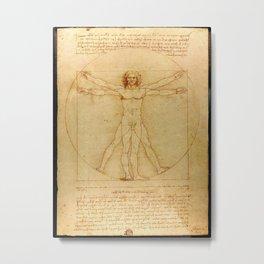 Leonardo da Vinci - Vitruvian Man Metal Print